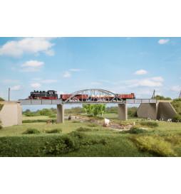 Auhagen 14483 - Most stalowy jednotorowy, skala N