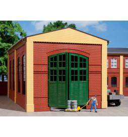 Auhagen 80505 - BKS Ściany 2326A czerwone, Zielona brama I