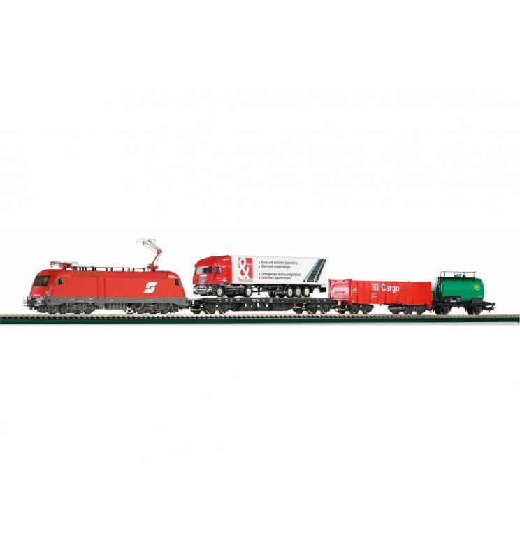 Piko 57170 - Zestaw Startowy towarowy Elektrowóz ÖBB Taurus + Wagony towarowe