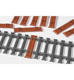 Weinert 74026 - Podkłady stalowe bliźniacze, MeinGleis Code 75, 10 szt.