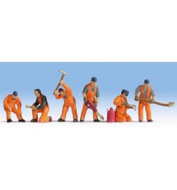 Noch 15276 - Robotnicy torowi podczas pracy