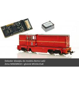 Zestaw: Dekoder dźwięku do Lxd2 Bemo (Zimo MX658N18) + Głośnik MS10x15x8