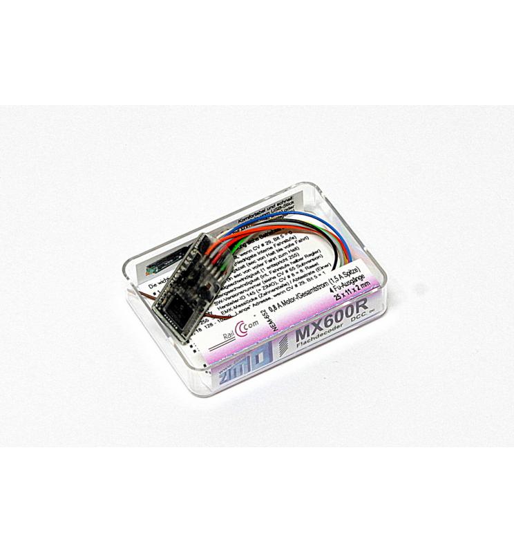 Dekoder jazdy i oświetlenia Zimo MX623R (3W) DCC 8-pin z przewodami
