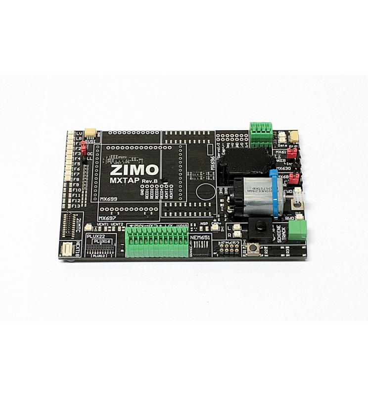 Tester dekoderów ze złączami NEM651, NEM652, PluX, Next18 - wersja do małych dekoderów (Zimo MXTAPS)