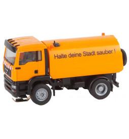 Faller 161482 - cs Ciężarówka MAN TGA zamiatarka uliczna