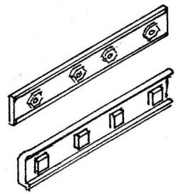 Weinert 74001 - Podkłady drewniane z wycięciem na złączki, MeinGleis Code 75, 8 szt.