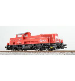 Lokomotywa spalinowa, BR 261, 261-002, HzL, Ep VI, czerwona, LokSound, Generator dymu, Skala H0, DC/AC - ESU 31154
