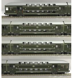 Rivarossi HRS4228 Czeroczłonowy zespół wagonów piętrowych, seria Bhp, oliwkowy, PKP, Rzeszów