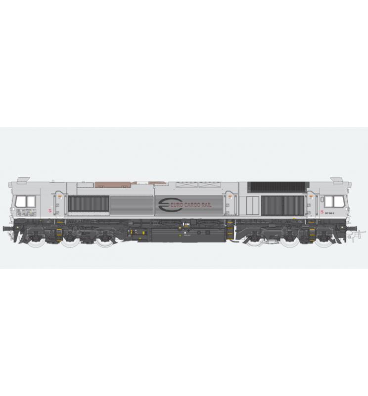 Lokomotywa spalinowa, Class 77, BR 247 046, ECR, Ep VI, szara, LokSound, Generator dymu, Skala H0, DC/AC - ESU 31270