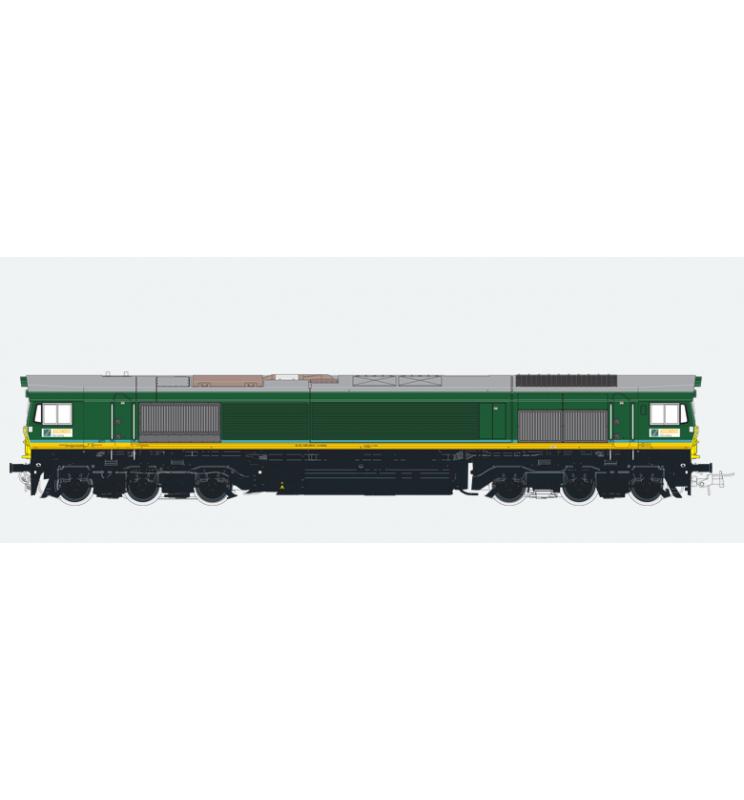 Lokomotywa spalinowa, Class 66, Ascendos PB 15, Ep V, zielona, LokSound, Generator dymu, Skala H0, DC/AC - ESU 31272