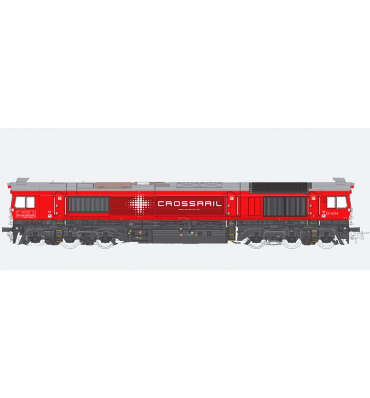 Lokomotywa spalinowa, Class 77, Crossrail DE 6314, Ep VI, niebieska, LokSound, Generator dymu, Skala H0, DC/AC - ESU 31274