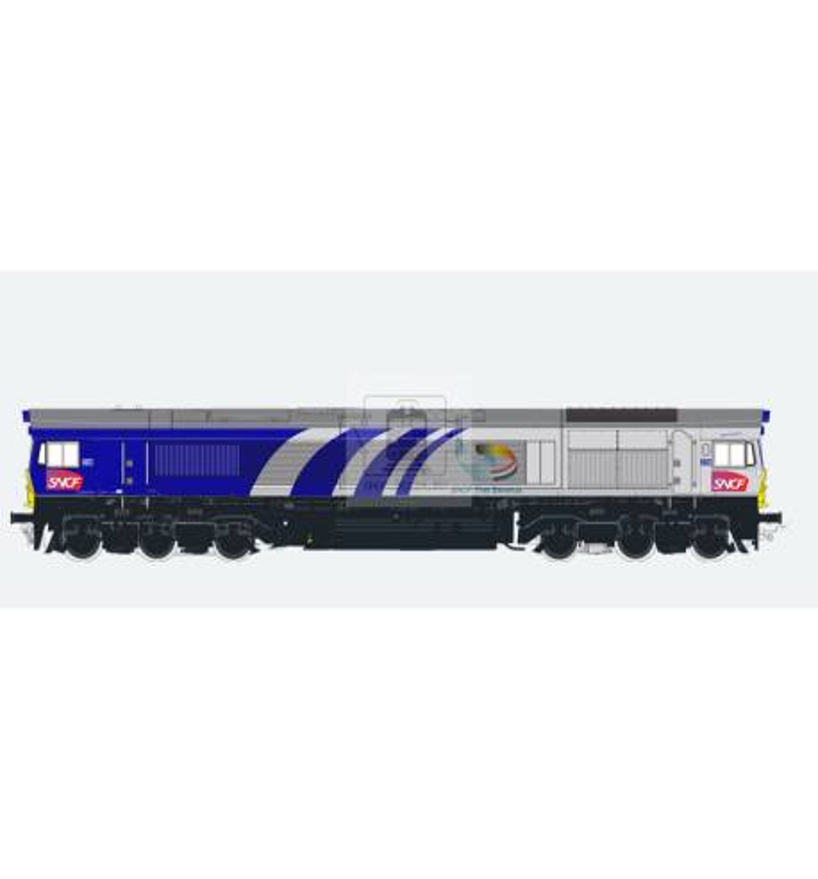 Lokomotywa spalinowa, Class 66, Fret 6603, Ep VI, szaro-niebieska, LokSound, Generator dymu, Skala H0, DC/AC - ESU 31275