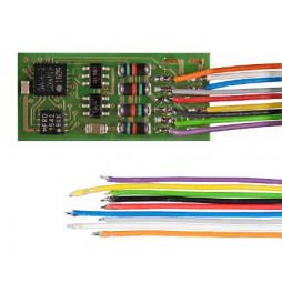 Nano dekoder jazdy i oświeltenia D&H PD05A-3 tylko kable
