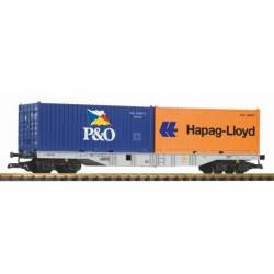 Piko 37751 - G-Containertragwagen mit 2 Containern DB AG VI