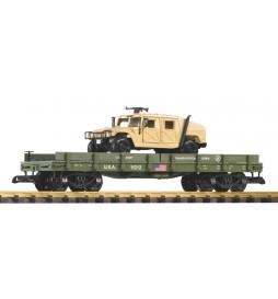 Piko 38764 - G-Autotransportwagen + 1 Diecast Auto (Humvee)