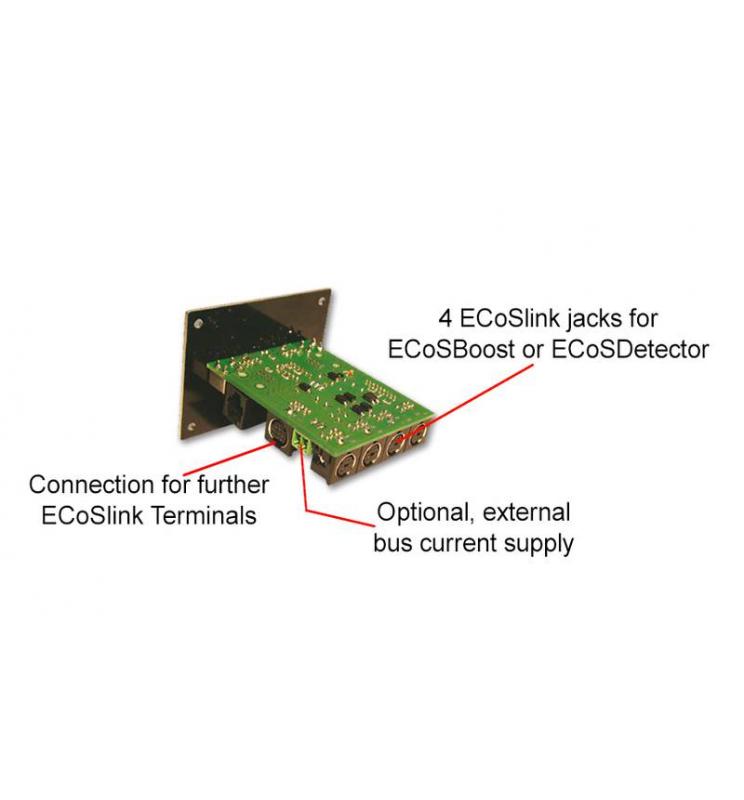 ECoSlink Terminal, Panel podłączeniowy do ECoS, CS1, CS2, z kablem - ESU 50093