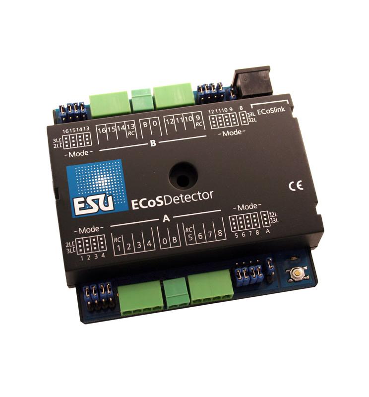 ECoSDetector - moduł informacji zwrotnej, 16 kanałów w tym 4 z odczytem infromacji RailCom - ESU 50094