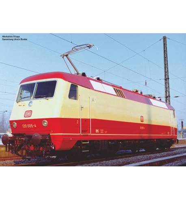 Piko 51321 - ~E-Lok 120 005-4 DB Vorserie IV + PluX22 Dec.