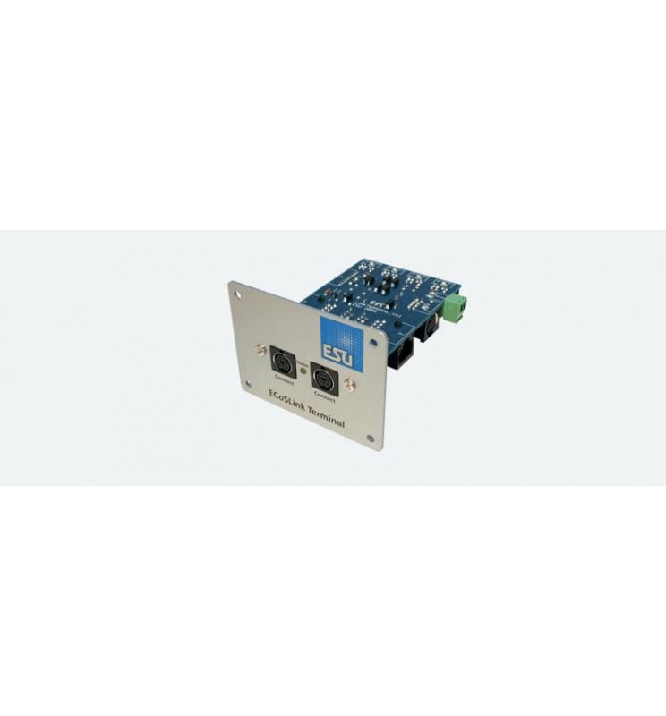 ECoSlink Terminal, panel podłączeniowy do ECoS, CS1, CS2, z kablem - ESU 50099
