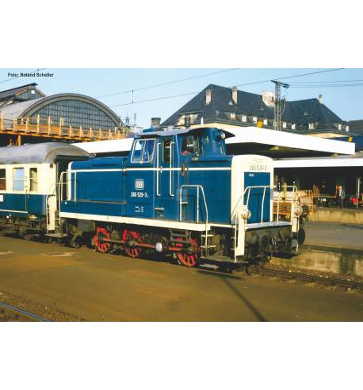 Piko 55900 - Diesellok/Sound BR 260 DB blau-beige IV + PluX22 Dec.