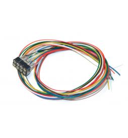 Gniazdo 8-pin, NEM 652, z kablami w kolorach zgodnych ze standardem DCC, 30cm - ESU 51950