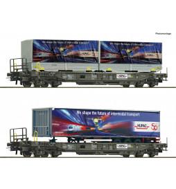 Roco 76198 - Zestaw 2 wagonów kieszeniowych z naczepami