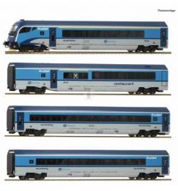Roco 74142 - Zestaw 4 wagonów Railjet CD z wagonem sterowniczym