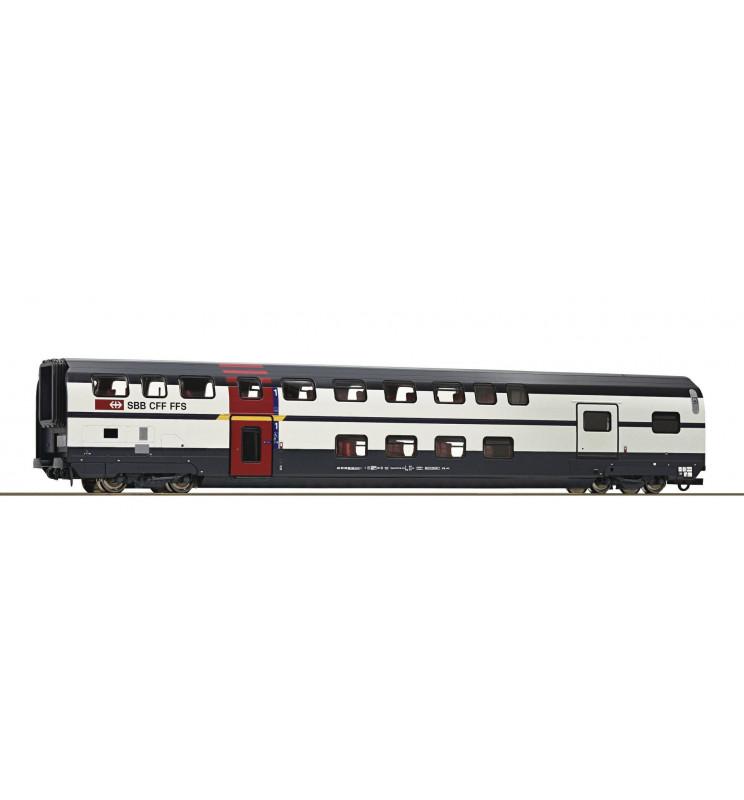 Roco 74501 - Wagon piętrowy 1kl z przedziałem bagażowym SBB