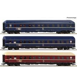 Roco 74129 - Zestaw 3 wagonów sypialnych DB