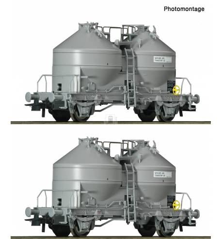 Roco 76072 - 2 piece set: Silo wagons SNCB