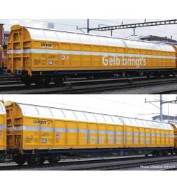 Roco 76087 - Zestaw 2 wagonów towarowych z przesuwanymi ścianami Post