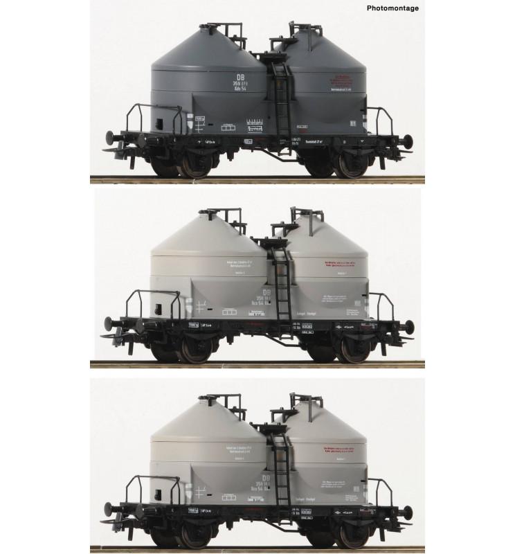 Roco 76093 - Zestaw 3 wagonów silosów DB
