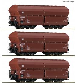 Roco 76079 - 3 piece set: Self-unloading hopper wagons DB