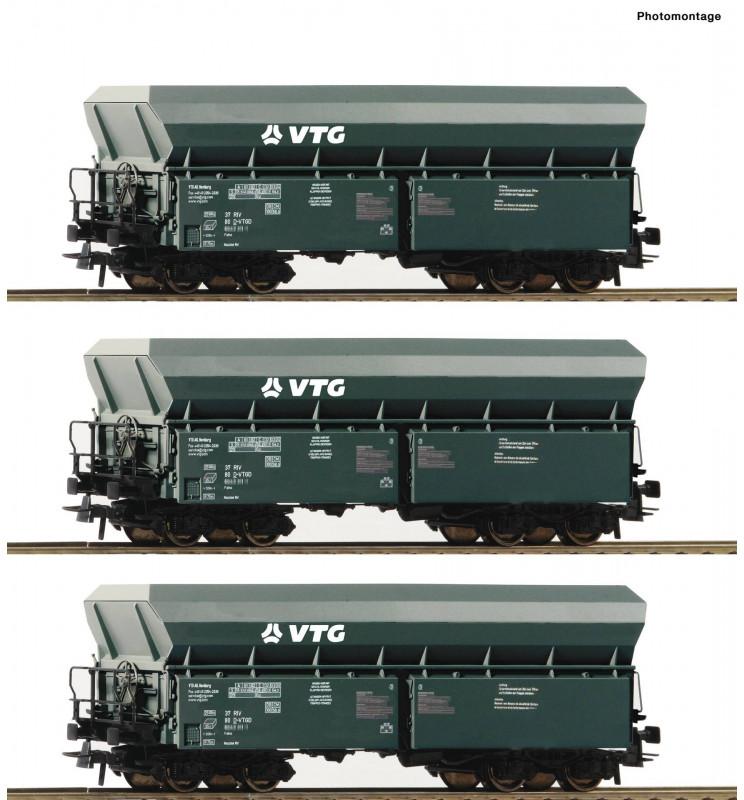 Roco 76092 - 3 piece set: Self-unloading hopper wagons VTG