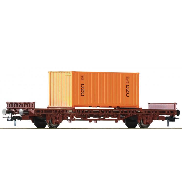 Roco 76986 - Wagon towarowy platforma z kontenerem CNC, SNCF
