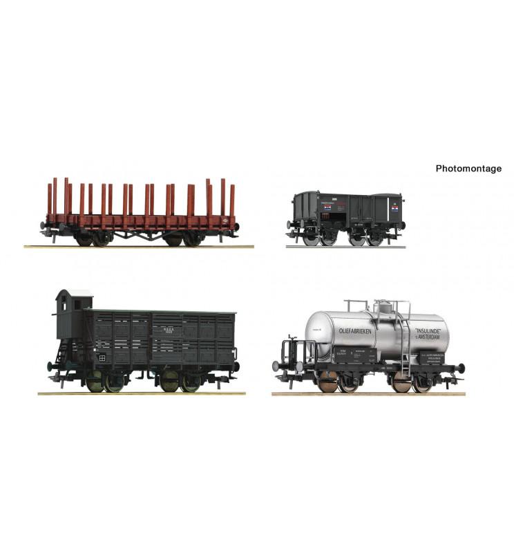 Roco 76077 - 4 piece set: Goods wagons
