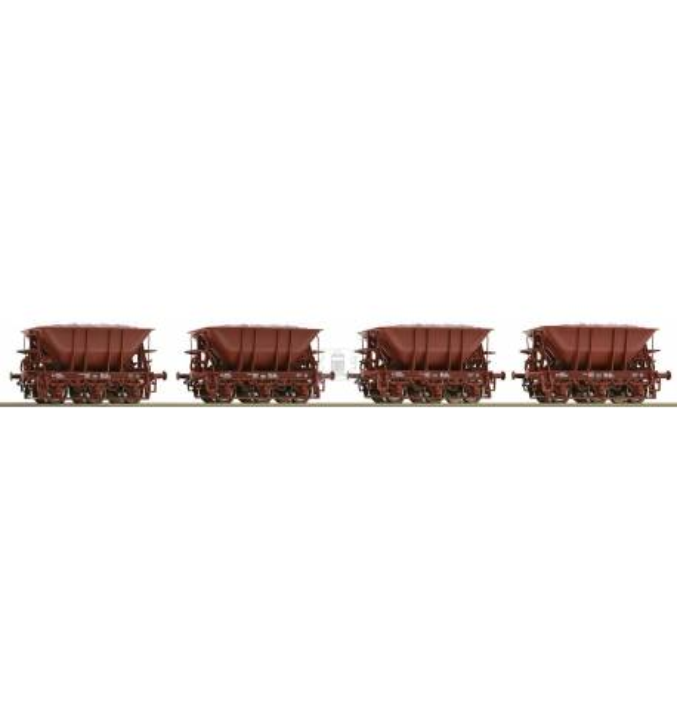 Roco 67075 - 4 piece set: Ore wagons SJ