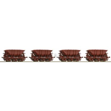 Roco 67076 - 4 piece set: Ore wagons SJ