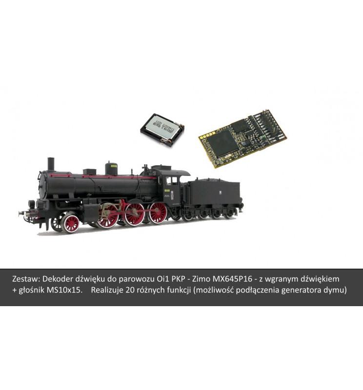 Zestaw: Dekoder dźwięku do Oi1 Fleischmann - Zimo MX645P16 PluX 16-pin + głośnik