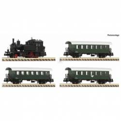Fleischmann 707086 - 4 piece set: Steam locomotive Rh 770 with passenger train ÖBB