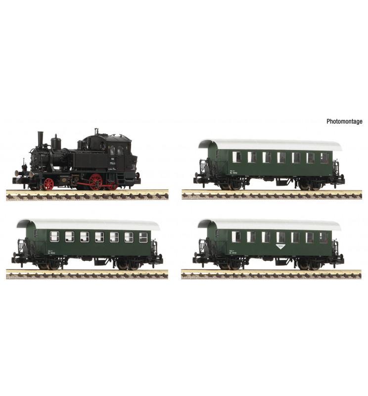 Fleischmann 707086 - 4 piece set: Steam locomotive Rh 770 with passenger train ÖBB