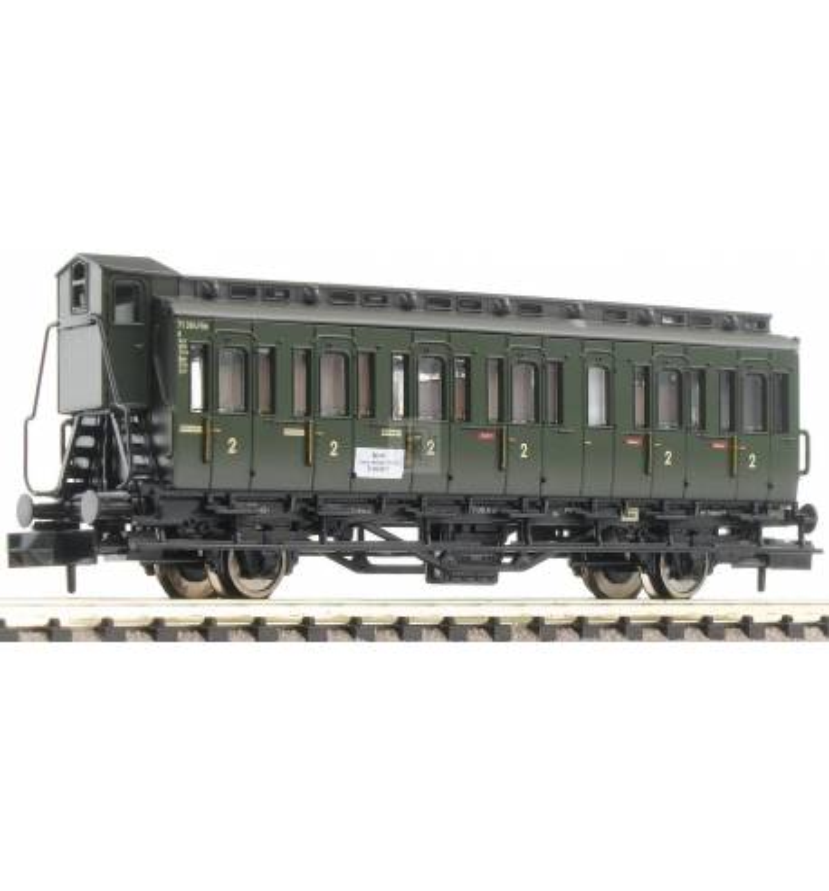 Fleischmann 807101 - 2-axled 2nd class compartment coach with brakeman's cab, type C pr21 DB