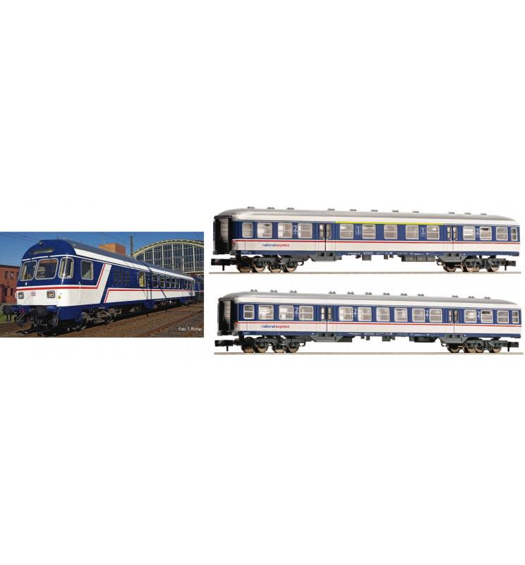 """Fleischmann 881903 - 3 piece set """"National Express"""" NX Rail"""