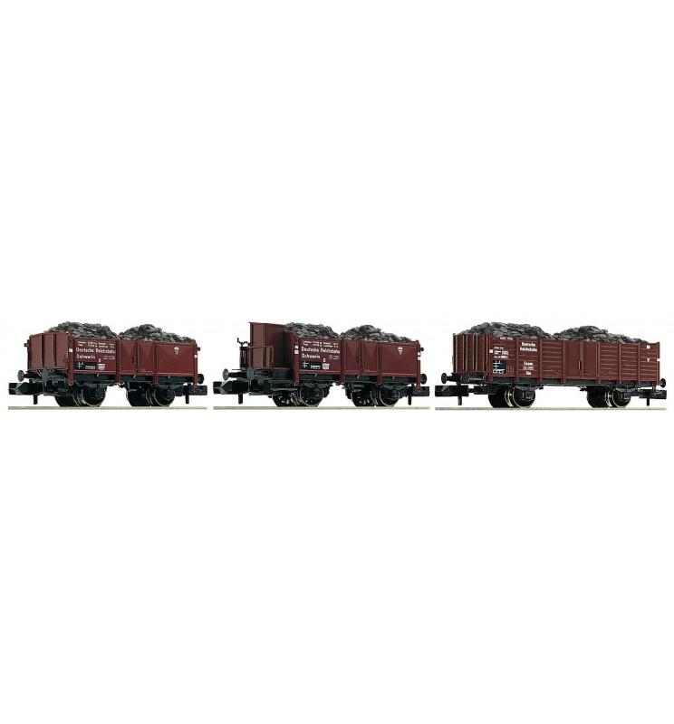 Fleischmann 820802 - 3 piece set coal train DRB