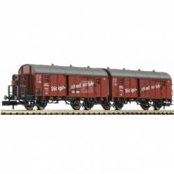 """Fleischmann 830605 - Wagon unit """"Leig"""" that consists of two boxcars type Glleh """"Dresden"""" DRG"""