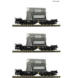 Fleischmann 845511 - 3 piece set heavy duty wagons type Samms DB