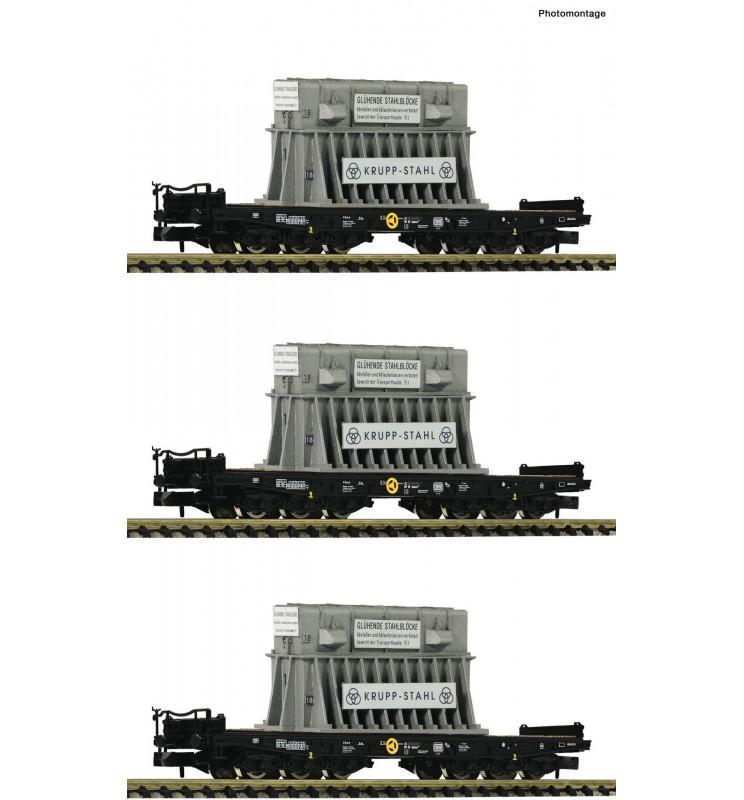 Fleischmann 845512 - 3 piece set heavy duty wagons type Samms DB