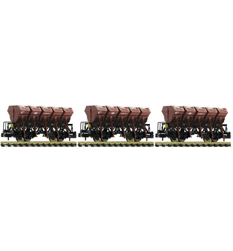Fleischmann 845104 - 3 piece set dump wagons type F-z 120 DB