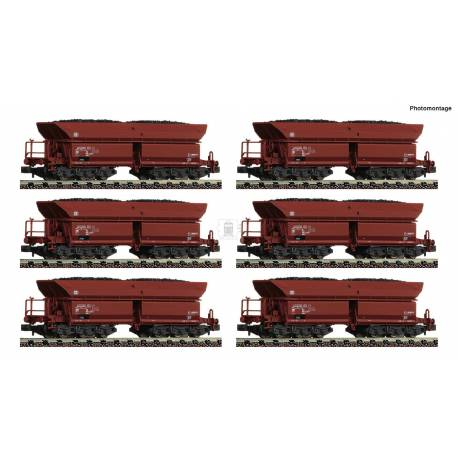 Fleischmann 852702 - Display of 12 pieces: Self unloading hopper wagons type Faalns 150 DB