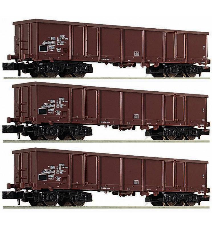 Fleischmann 828347 - 3 piece set goods wagons type Eas DR